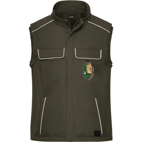 Workwear Softshell Gilet -Solid:      Workwear Softshell Gilet -Solid-   Material:320g/m², 100% Polyester