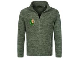 Melange Fleece Jacket Herren:   Herren Fleece Jacke   Material:310g/m², 100% Polyester   Stehkragen, mo